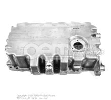 Bac a huile moteur avec ouverture pour capteur niveau p. vehicule sans espacement des periodes d'entretien pour vehicules sans prolong. interval. d'entretien 03G103603AD