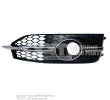 Grille noir satine gauche Audi A7 Sportback 4G 4G8807681E 9B9