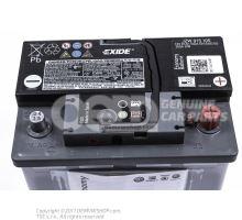 Akumulátor s ukazovateľom stavu nabitia, naplnený a nabitý                  'ECO'