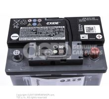 Battery with state of charge display, full and charged         'ECO' JZW915105