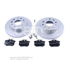 1 set brake discs with      'ECO' brake pads JZW698601AA